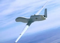 State of the art - RQ-4 Global Hawk, unmanned aerial vehicle for reconnaissance.