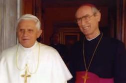 Pope Benedict XVI with Archbishop Alfons Nossol.