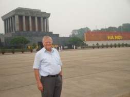 Brig Gen (ret) Dieter Farwick, Senior Vice President of the World Security Network in front of the Ho Chi Minh…