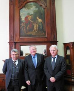 "Kurdish representatives Zubeyir Aydar (left) and Rahman Haji-Ahmadi (right) with BrigGen(ret) Dieter Farwick in Brussels: ""As a dreadful dictator Saddam…"