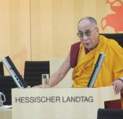 """The Dalai Lama told the Parliament of the German state Hessen""""The world belongs to humanity and to the people, not…"""