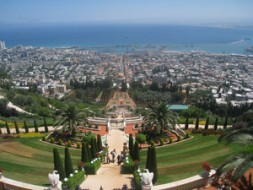 The gorgeous city of Haifa in the north of Israel with the temple and the gardens of the peaceful Bahai…