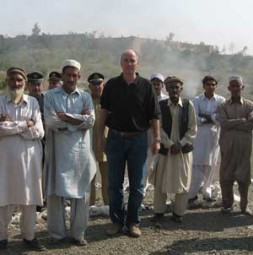 German entrepreneur and geostrategist Dr. Hubertus Hoffmann, President and Founder of the World Security Network Foundation meets the tribesmen at…