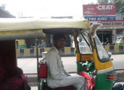 Tuk-tuk - The three-wheeled open air city taxi.