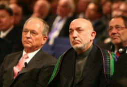 """Ambassador ret. Wolfgang Ischinger, Chairman of the Munich Security Conference (www.securityconference.de), with the President of Afghanistan Hamid Karzai: """"2010 should…"""