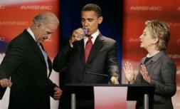 (from left): Senator Joe Biden, designated US Vice President, Barack Obama, US President-elect, Senator Hillary Clinton, designated Minister for Foreign…