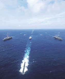 """Exercise Malabar 2007: """"The five nations - Australia, India, Japan, Singapore and United States - sent out 34 ships -…"""