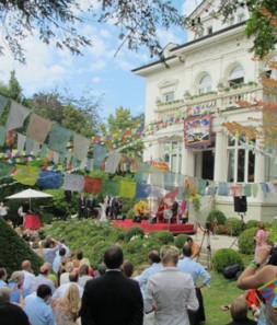 """Villa Goetzfried in Wiesbaden (Germany) where His Holiness, the XIV Dalai Lama addressed friends of Tibet: """"In India for over…"""