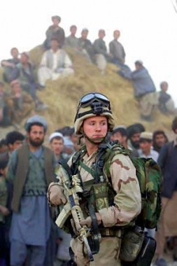 """""""Since 2003, NATO has been involved in Afghanistan with 32,000 soldiers from 37 NATO countries and Partners under its command…"""