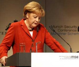 """German Chancellor Angela Merkel: """"2009 is the year of action"""""""