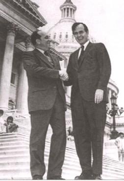 George Bush sen. with Georgi Arbatov