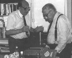 Henry Kissinger discussing with Georgi Arbatov