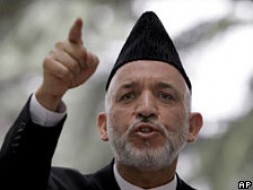 President Hamid Karzai says Afghanistan has a right to self-defence