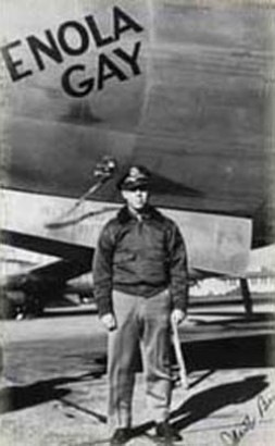 Lt. Jacob Beser, here next to the Hiroshima bomber Enola Gay in 1945, was awarded the Silver Star for the…