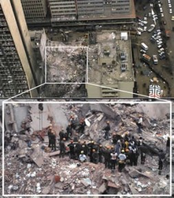 Collapsed US Embassy Building in Nairobi, August 7, 1998.