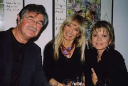 Uschi Glas, one of most famous actresses in Germany (right) and Pete York, former drummer of the U.K. Spencer Davis…