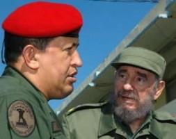 """Hugo Chávez and his political mentor Fidel Castro: """"Chávez regognizes the USA as his enemy"""""""