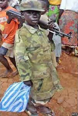 """Childsoldiers - the ugly face of the """"Third world war"""" in Africa."""