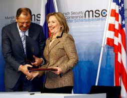 U.S. State Secretary, Hillary Clinton, with Russian Foreign Minister, Sergey Lavrov, signing the New START Agreement: The most important real…