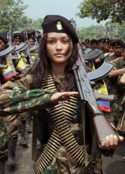 """""""Since 1964 Colombia lives in guerilla war with two left-wing rebel groups"""""""