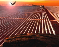 """""""DESERTEC: a project to install solar power plants in the Middle East and Northern African desert and export the energy…"""