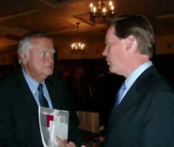 """WSN Global Editor Dieter Farwick with Undersecretary of State Nicholas Burns. """"USA have to engage in world affairs and have…"""