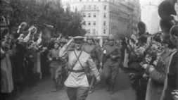 Soviet army in Europe. Are occupation forces always met with flowers??? Vienna 1945