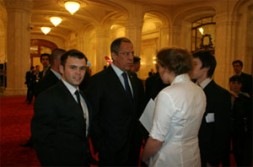 WSN Editor Russia Dmitry Udalov, here with Russian Foreign Minister Sergey Lavrov, headed the Russian delegation at NATO's Youth Summit.…