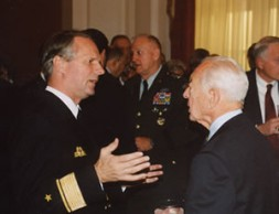 Admiral Hubertus von Puttkamer, Defense Attaché at the German Embassy in Washington DC, discussing the values and aphorisms of Fritz…