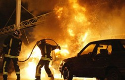 """""""In 2005, in the suburbs some 10000 cars were destroyed and damage of more than 200 million Euros was caused."""""""