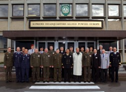 A Dialogue Forum unites 20 German and Russian general officers at NATO's Allied Command Operations (first row: 5th from right…