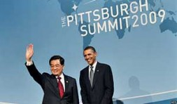 """""""Chinese President Hu Jintao and U.S. President Barack Obama: The former National Security Advisor Zbigniew coined the term """"G-2"""" to…"""