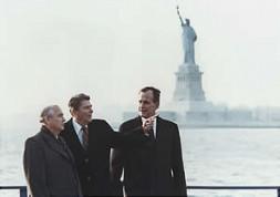 Architects of détente - Michael Gorbachev, Ronald Reagan and George Bush sr.