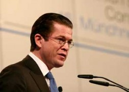 """Dr. Karl-Theodor zu Guttenberg, German Minister of Defense: """"If we want to secure our interests, we have to leave our…"""