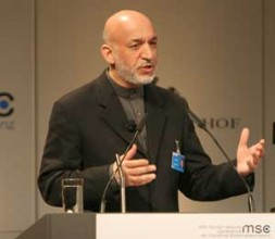 """President Hamid Karzai of Afghanistan: """"Afghanistan is not a 'failed state', it is a 'destroyed state'."""""""