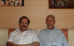"""Hichem Karoui (left), Professor Burhan Ghalioun (right): """"Interrupting the course of the reformist movement would push Syria towards anarchy and…"""