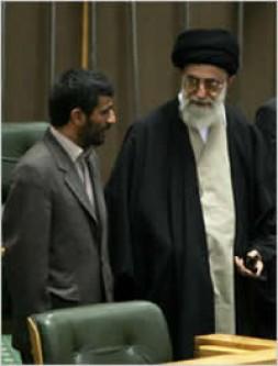 President Mahmoud Ahmadinejad, left, has overshadowed chief cleric Ayatollah Ali Khamenei.