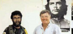 FARC-leader Alfonso Cano with Swiss diplomat, Jean-Pierre Gontard.