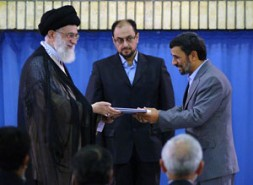"""Ayatollah Ali Khamenei (left), Supreme religious leader, and President Ahmadinejad: """"The regime is unable to stop this movement."""""""