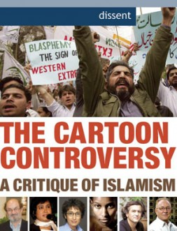 Top: Demonstrators in Pakistan protest the publication of cartoons of Muhammad in a Danish periodical.