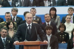 """By leading the """"United Russia"""" Vladimir Putin makes the party an institute for modernization of Russia."""