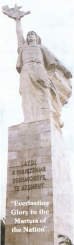 """Mother Albania"" statue."