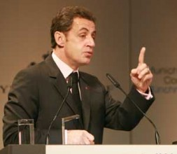 """French President Nicolas Sarkozy: """"Let's judge Russia by its deeds - if it wants to be one of the great…"""