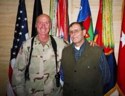 """Major General Eric T. Olson with the author: """"We are at war with terrorism""""."""