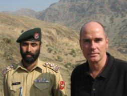 German entrepreneur and geo-strategist Dr. Hubertus Hoffmann, President and Founder of the World Security Network, at the Afghan border in…
