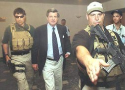 """Paul Bremer: """"My experience in Iraq suggests that using contractors is a useful way to help relieve pressures on the…"""