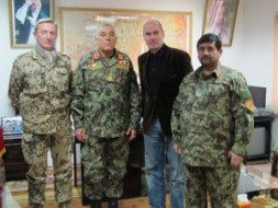 In the headquarters of the 209th Corps of the Afghan National Army. From