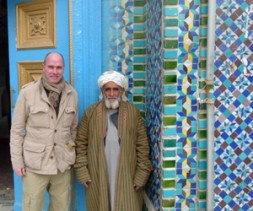 """Dr. Hubertus Hoffmann, President of the World Security Network Foundation, at the Blue Mosque in Mazar-e-Sharif in Afghanistan: """"In a…"""
