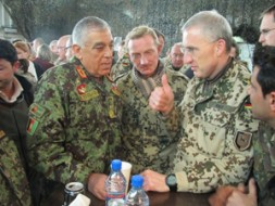 Partnering between ISAF and the Afghan National Army (ANA) works well now: Here the commander of the 209th ANA Corps…
