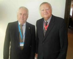 "Corneliu Pivariu, CEO Geostrategic Pulse (left), with BrigGen(ret)Dieter Farwick, Global Editor in Chief World Security Network: ""Political leaders have to…"